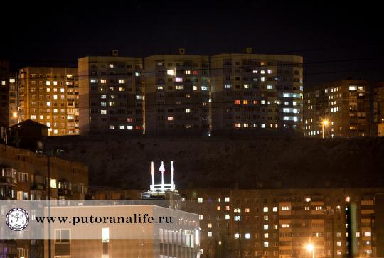 Ночной горный город